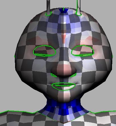 uvlayout face